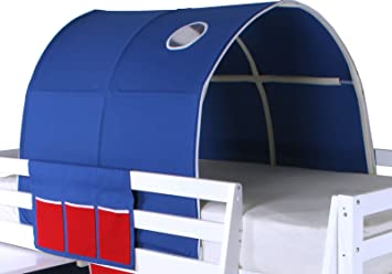 Beddybows Cabin Bed Tunnel Tent Fabric Blue Single & Beddybows Cabin Bed Tunnel Tent Fabric Blue Single: Amazon.co.uk ...