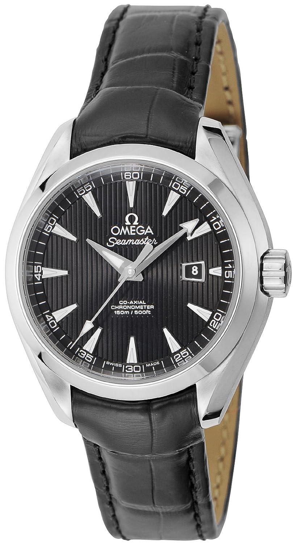 [オメガ]OMEGA 腕時計 シーマスターアクアテラ ブラック文字盤 コーアクシャル自動巻 アリゲーター革ベルト 150M防水 デイト 231.13.34.20.01.001 レディース 【並行輸入品】 B00GMIZ5WC