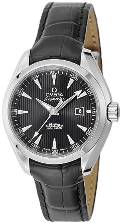 buy popular 3ec90 4e662 Amazon | [オメガ] 腕時計 シーマスターアクアテラ ブラック文字 ...