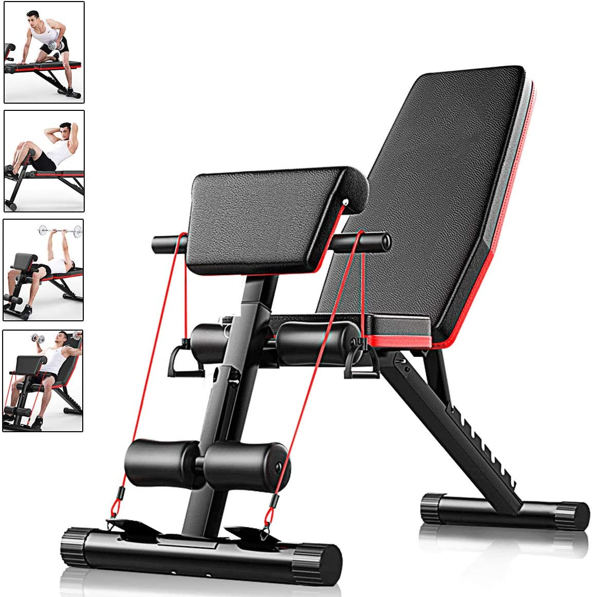 Weight Bench Multi Adjustable Gym Workout Exercise Flat Incline Decline Sit Up