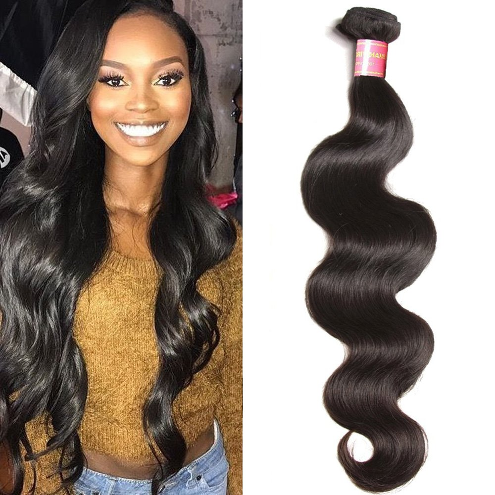 """10A Malaysian Body Wave Hair Weave One Bundle 14""""100% Unprocessed Remy Virgin Human Hair Extensions (14 inch, Natural Color)"""