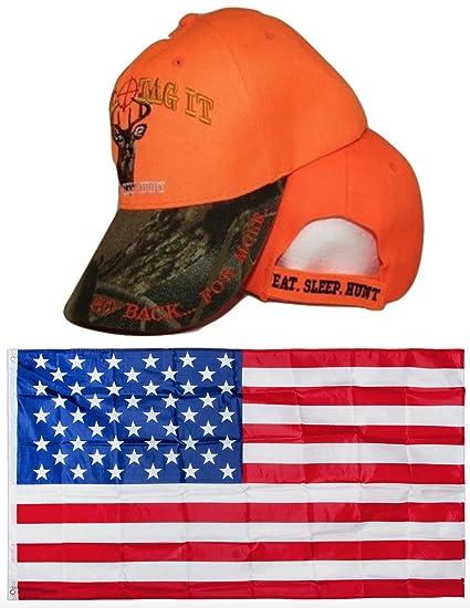 2360e03e2 Amazon.com : Eat Sleep Hunt Hunting Bag It Tag It Orange ...