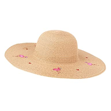 MagiDeal Women s flamingo Summer Sun Hats Foldable Wide Brim Paper Straw  Caps Beach Hat - khaki 0a5296d7dc