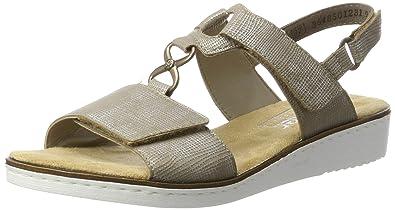 Rieker Damen 63687 Offene Sandalen mit Keilabsatz