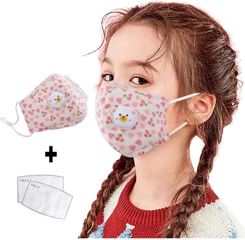 Butifullove Cartoon Animal Face Mouth Cotton Fabric Cloth Protect Kids Children Reusable Breathable Washable Comfortable Safety Bandanas for Dust Protection