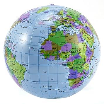 SurePromise One Stop Solution for Sourcing Globos terráqueo Hinchable 40cm Bola Mundo Hinchable para Escolar Juguetes niños Aprender geografía (10 ...