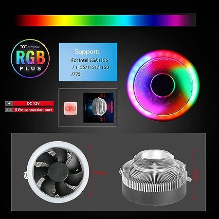 AM3//AM2 EEEKit CPU Cooler 2300RPM RGB CPU Cooler Fans Cooler Master for LGA 775//1155//1156