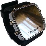 ゼリーミラータイプ LEDファション腕時計 (ブラック)