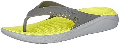 a4393b43fbb5e Crocs Unisex Adults  Literide Flip Flat Sandal  Amazon.co.uk  Shoes ...
