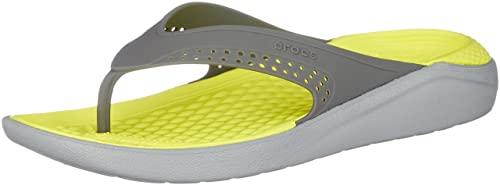 e7e2d6f3035b80 crocs Unisex s LiteRide Flip Slate Light Grey Flops Thong Sandals-M12  (205182-0DV