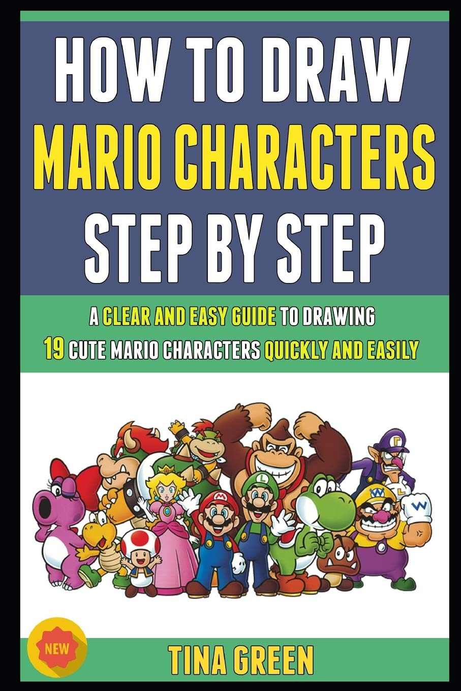 mario characters drawing easy