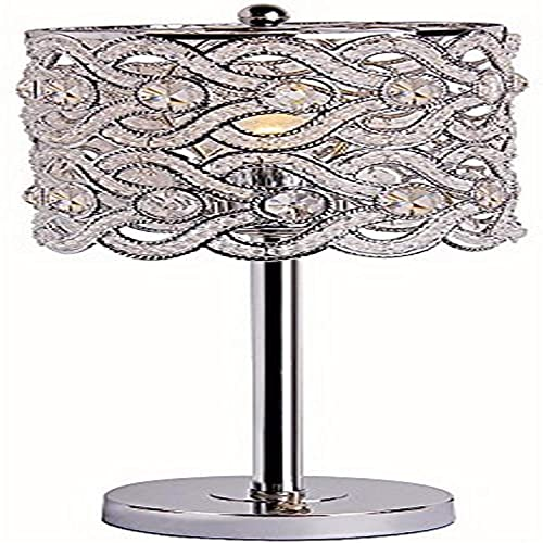 Park Madison Lighting PMT-1206-15 Contemporary Crystal Table Lamp with Polished Chrome Finish and Hand Crafted Shade, 20-Inch Tall