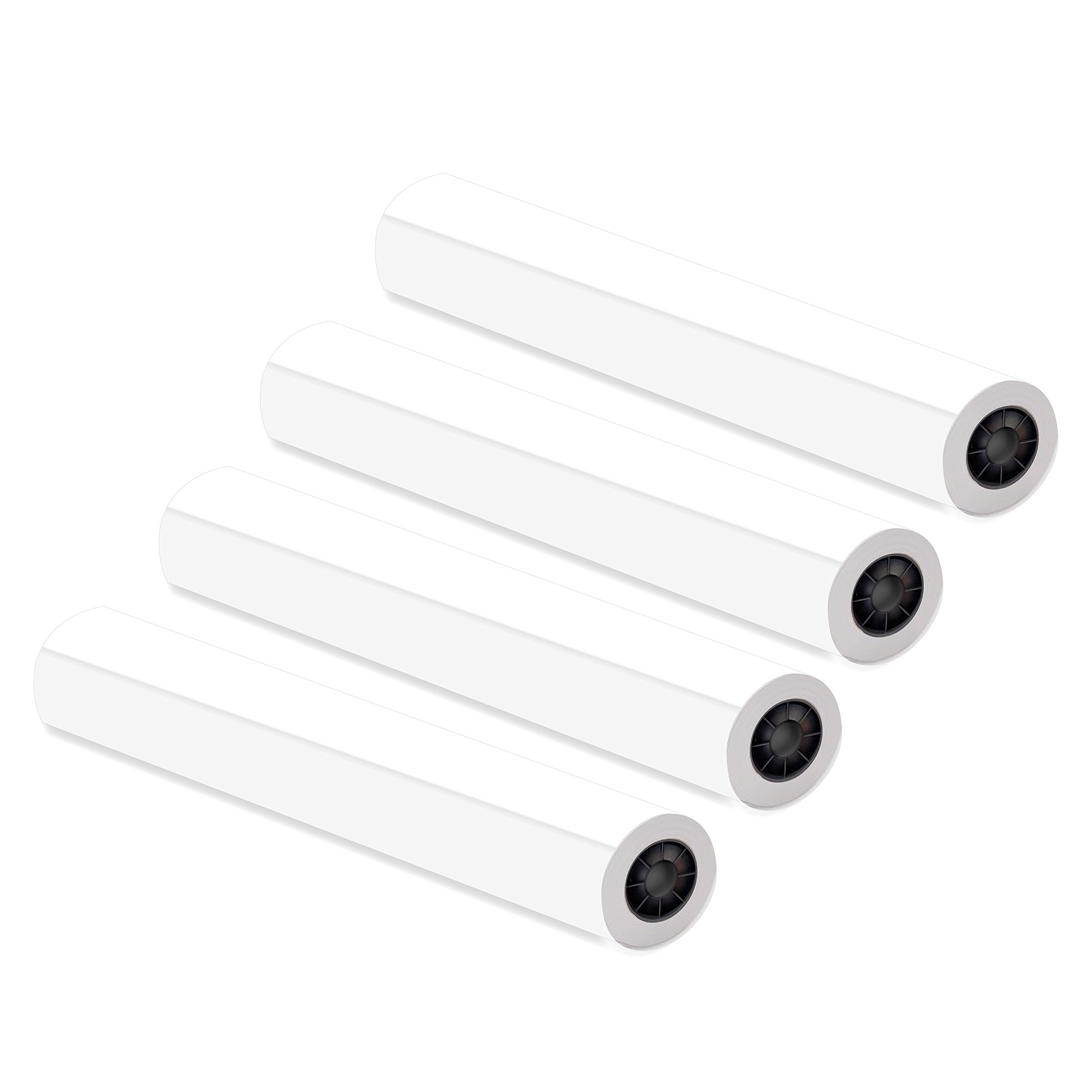 Alliance Untaped CAD Paper Rolls, 36'' x 150', 20 lb, 92 Bright, Ink Jet Bond, Engineering Rolls - 4 Rolls, 2'' Core