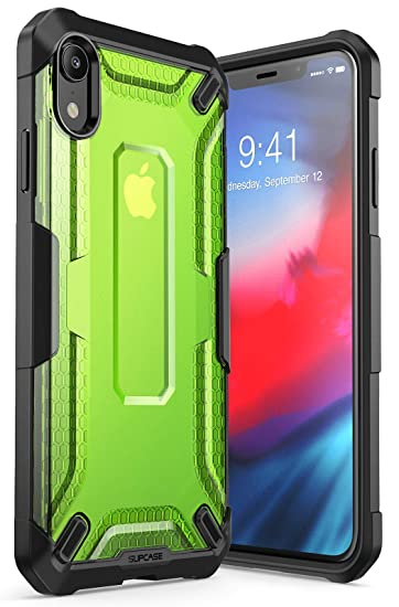 separation shoes 17787 af1a1 iPhone XR Case, SUPCASE [Unicorn Beetle Series] Premium Hybrid Protective  TPU and PC Clear Case for iPhone XR 6.1 Inch 2018 Release (Green)