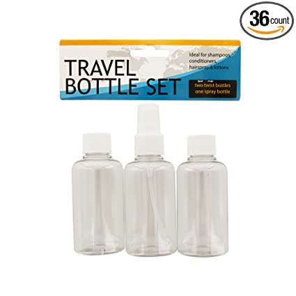 d8f44934bae8 Amazon.com : 123-Wholesale - Set of 36 Travel Twist Top & Spray ...