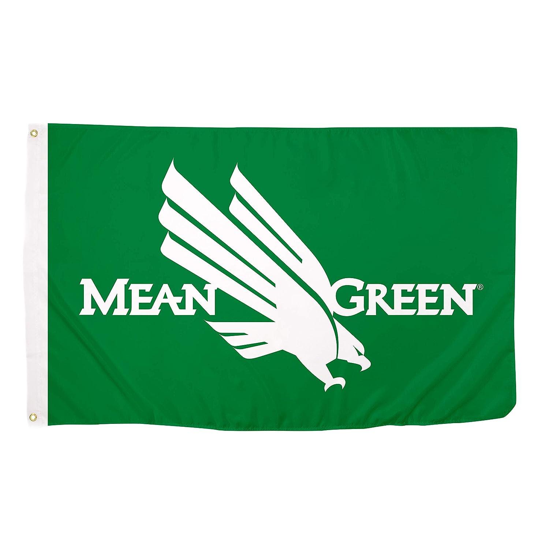 ノーステキサス大学 砂漠サボテン ミーングリーン 100% ポリエステル インドア アウトドア フラッグ UNT B07MHWCNR7