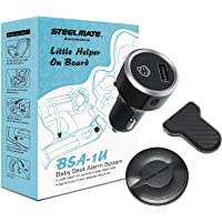 STEELMATE Baby Car Seat Reminder-Automotive Baby Seat Alarm System, Baby in Car Reminder Warning with Light and Sounds…
