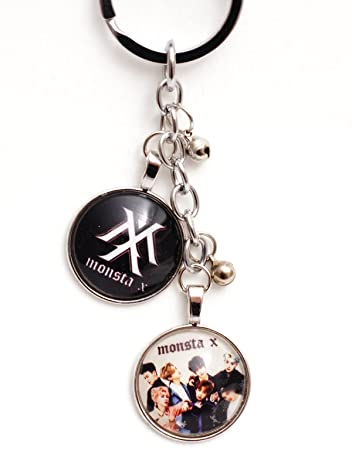 Amazon.com: K-Pop Monsta X Colgante de metal llavero – Logo ...