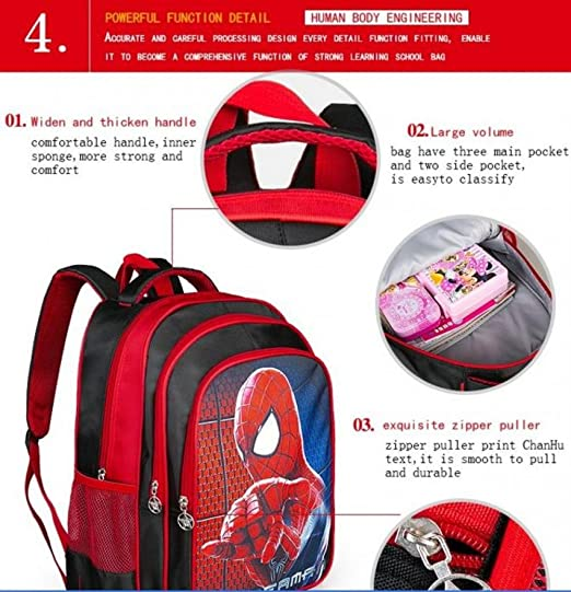 Amazon.com : Hot Cartoon Spiderman Backpacks For Kids Children School Bags Primary Backpack Boy mochila barn gave legetøj (1PC, Style 1) : Baby