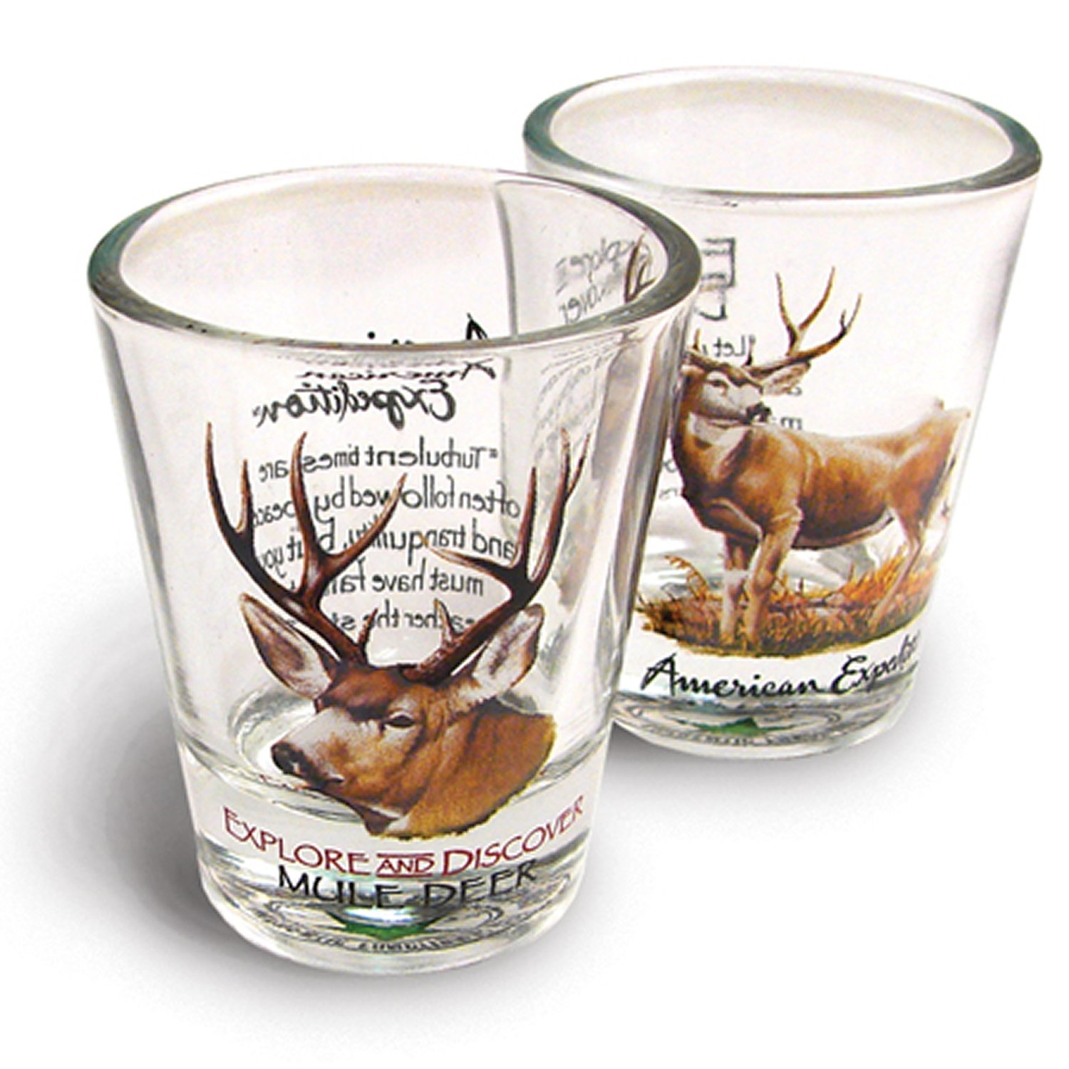 American Expedition Set of 2 Shot Glasses (Moose) 2SHT-105