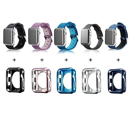Amazon.com: Funda para reloj MAIRUI para reloj Apple ...