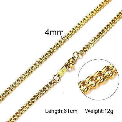 Amazon.com: Elibone - Collar para hombre y mujer con cadena ...