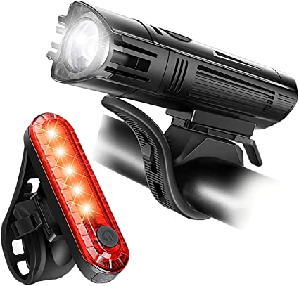 Bike Light Set-USB Rechargeable LED Bicycle Taillight Front Headlight Lithium