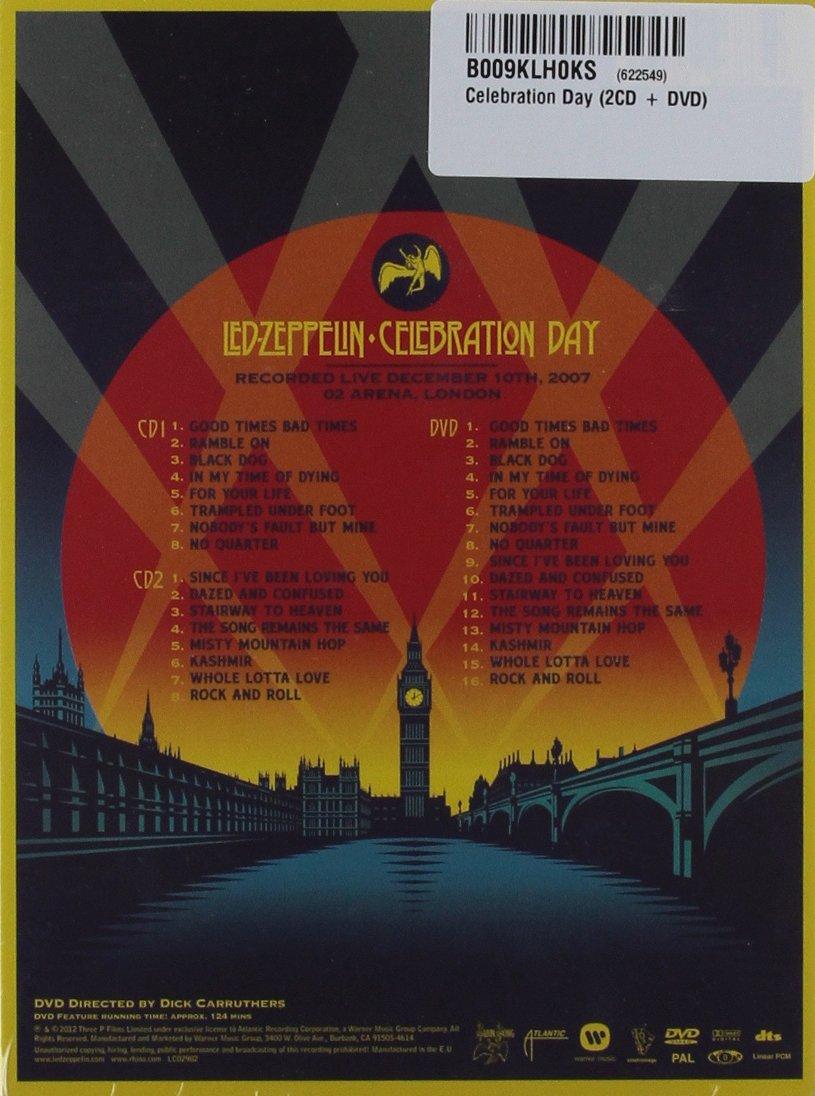 Led Zeppelin - Celebration Day [Reino Unido] [DVD]: Amazon.es: Led Zeppelin, Jimmy Page, Robert Plant, John Paul Jones, Jason Bonham, Dick Carruthers: Cine ...