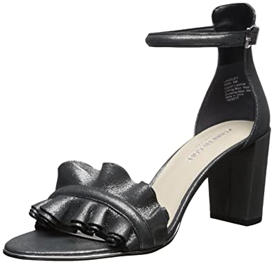 9d6ca392fc3 Kenneth Cole New York Women s Langley Ankle Sandal with Ruffle Detail on  Front Strap Heeled