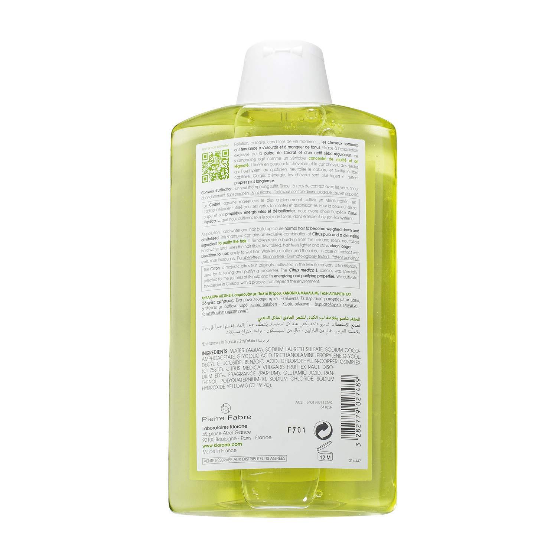 Klorane APF-129, Champú con pulpa de cítricos, 400 ml: Amazon.es: Salud y cuidado personal