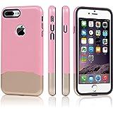 """Coque iPhone 7 Plus 5.5"""" - TURATA iPhone 7 Plus Coque PC+TPU Housse Etui de Protection Double Antichoc pour iPhone 7 Plus - Rose Or"""