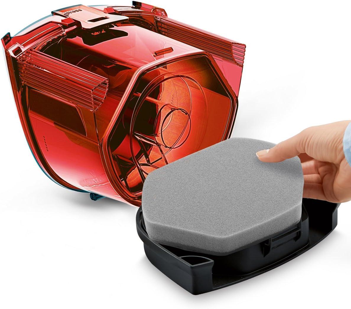 Bosch BGC1UA110 Aspirador sin Bolsa GS-10, diseño Ultra-Compacto, Filtro Lavable, Cepillo Especial parquet, Color, [Etiqueta energética Clase A], 700 W, 1.4 litros, 80 Decibelios, Negro, Rojo: Amazon.es: Hogar