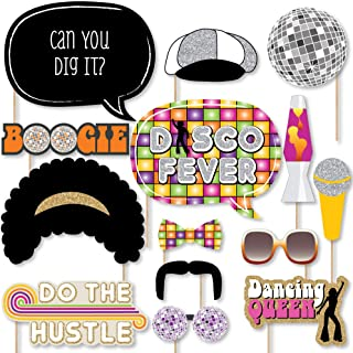 product image for 70's Disco - 1970s Disco Fever Party Photo Booth Props Kit - 20 Count
