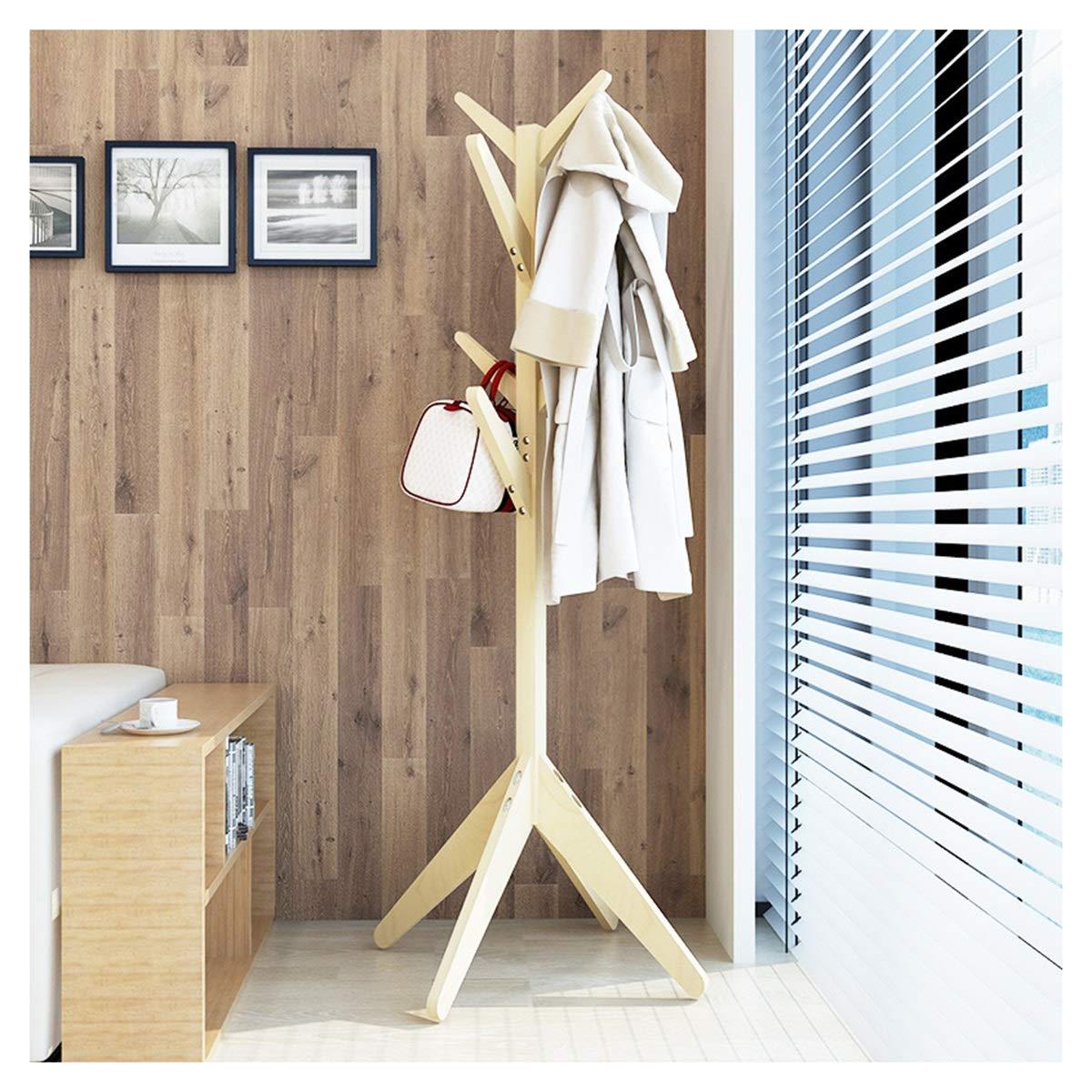 WPQW コートラック - 純木の創造的なハンガーの床の寝室のハンガーシンプルでシンプルなシンプルなハンギングラック - コート ハンガー 2088 (Color : B) B07TCY6FK2 B