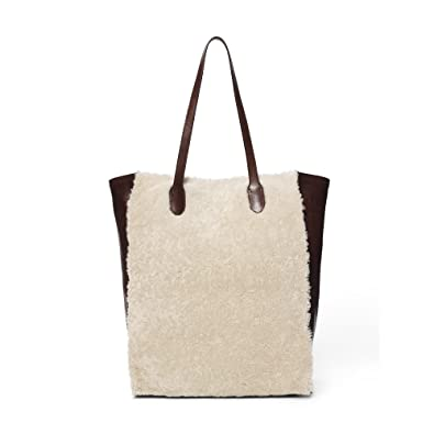 3221af687c94 Amazon.com  Polo Ralph Lauren Genuine Shearling Leather Tote Bag ...