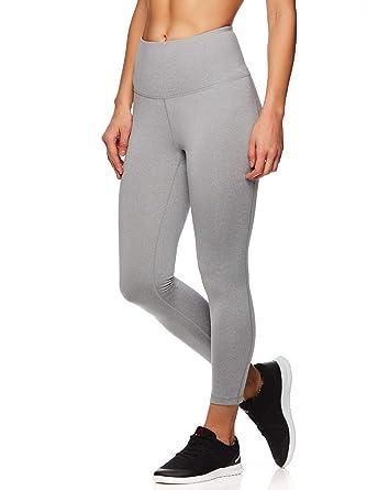 94beed7b63f3a Reebok Women's Capri Leggings w/High-Rise Waist - Performance Compression  Tights - Grey Heather, X-Small