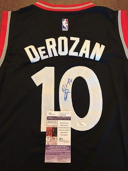 c62f253d9c6 Image Unavailable. Image not available for. Color  Demar Derozan Toronto  Raptors Autographed Signed Jersey ...