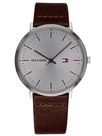 Tommy Hilfiger Reloj Analógico para Hombre de Cuarzo con Correa en Cuero 1791463: Amazon.es: Relojes