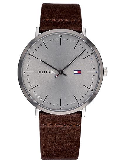 Tommy Hilfiger Reloj Analógico para Hombre de Cuarzo con Correa en Cuero 1791463