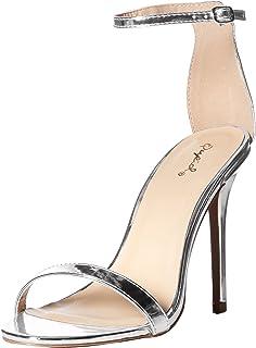 d3e49b69572d Qupid Women s Single Sole Sandal Heeled