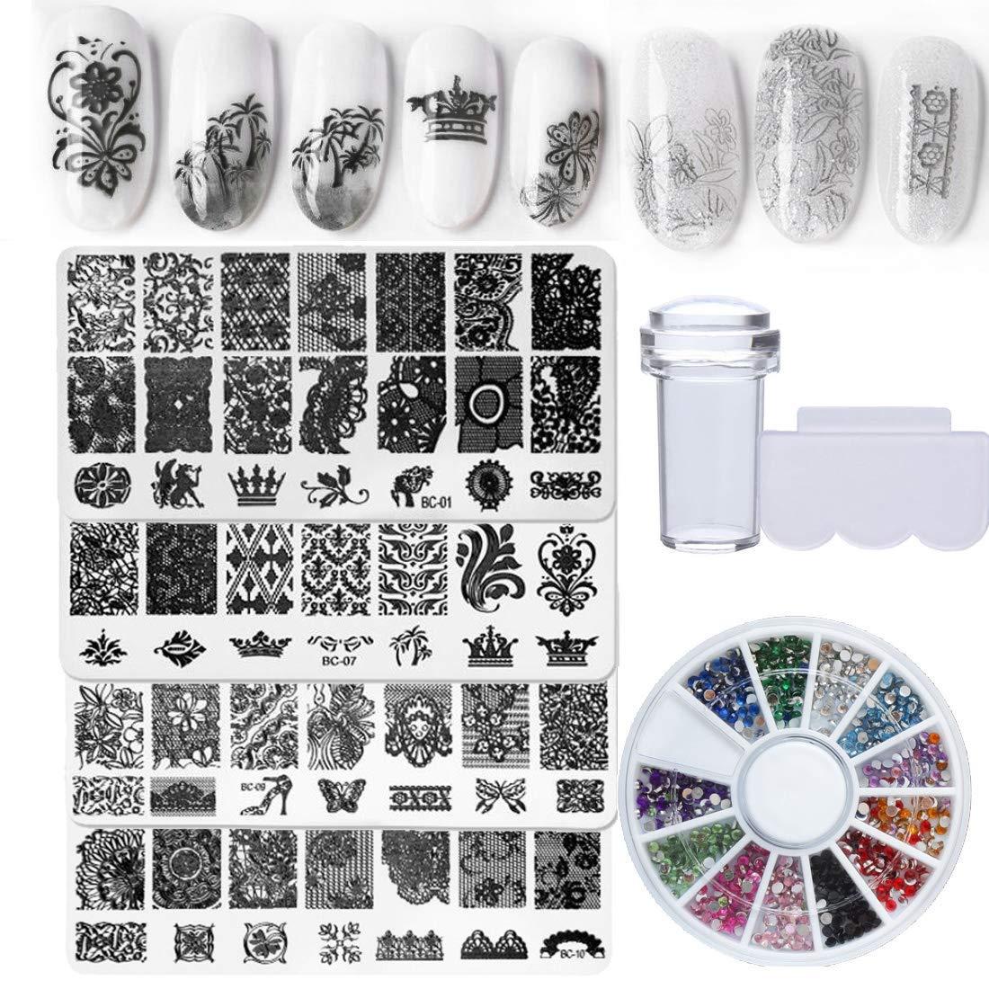 Nail Stamping Plates  Nail Art Design #1