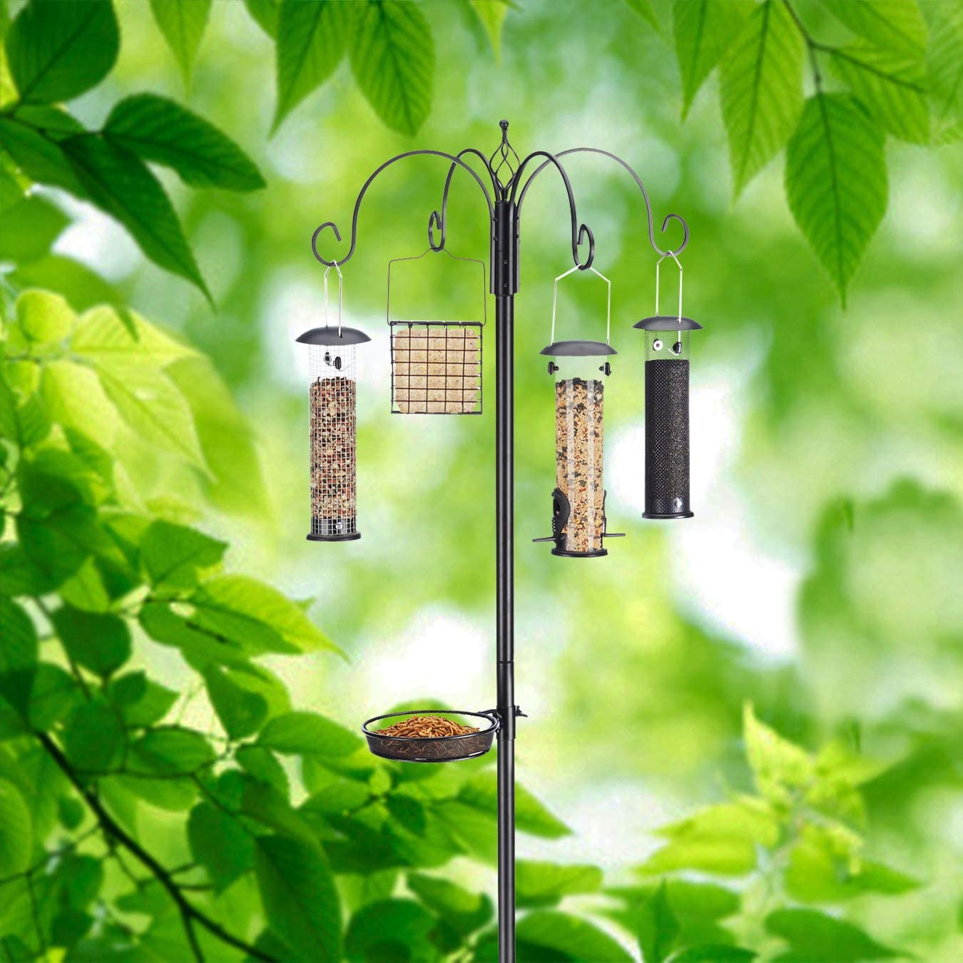 North States Bird 1862 Ultimate Station Birdfeeder, Black