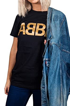 d21238557248f6 Official ABBA Gold Logo Unisex T-Shirt: Amazon.co.uk: Clothing
