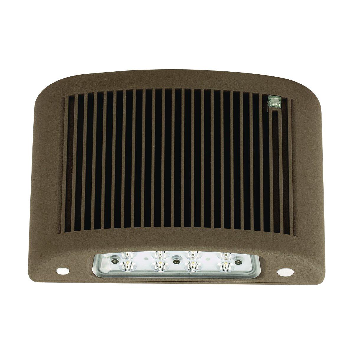 Compass CUSO4DB-H-ND CUSO Series Slim LED AC//Emergency Outdoor LightA tradeSELECT Product Dark Bronze