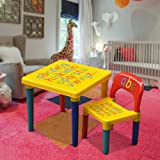 Popamazing Kids Children Furniture Alphabet Learn U0026 Play ABC Table + Chair  Set Educational Present