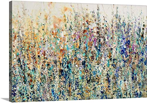GREATBIGCANVAS Thicket Wildflowers Canvas Wall Art Print