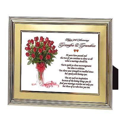 Amazon.com - Grandma & Grandpa\'s Golden 50th Wedding Anniversary ...