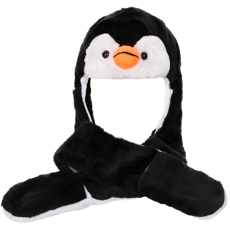 Teen penguin hats gloves scarves