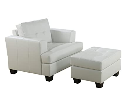 Cool Acme 15095B Diamond Bonded Leather Sofa With Wood Leg White Pdpeps Interior Chair Design Pdpepsorg