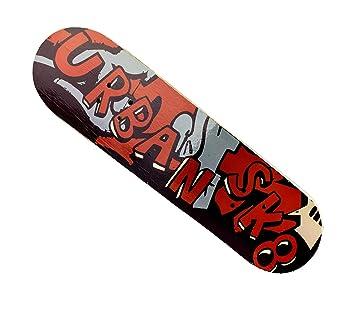 122648 Monopatín para niños URBAN de madera 4 ruedas 79 cm Skateboarding - Urban: Amazon.es: Deportes y aire libre